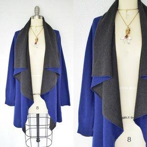 Eileen Fisher cashmere mohair waterfall cardigan